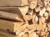 Chipped firewood
